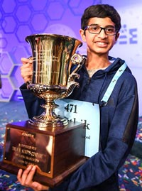 Karthik Nemmani, winner of the Scripps Spelling Bee 2018