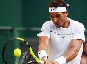 Rafael Nadal at the Wimbledon championships