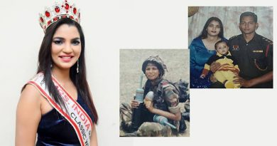 Captain Shalini Singh wearing the Mrs India 2017 crown