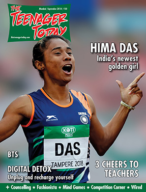 Cover of the September 2018 issue of The Teenager Today featuring athlete Hima Das