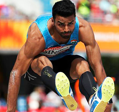 Arpinder Singh in the triple jump