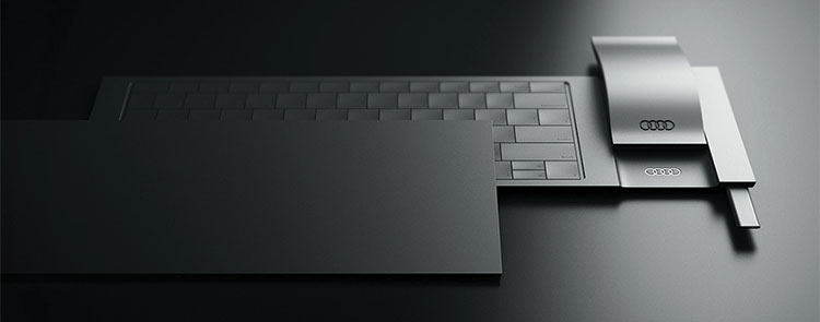 Audi Layer desktop keyboard