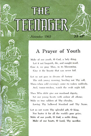 Cover of the first edition of The Teenager Today published in November 1963