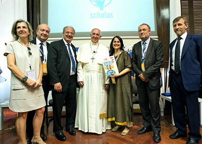 Kiran Bir Sethi with Pope Francis