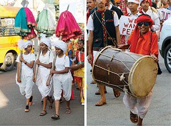 Inter-faith religious parade at Boscoree Peace Rally