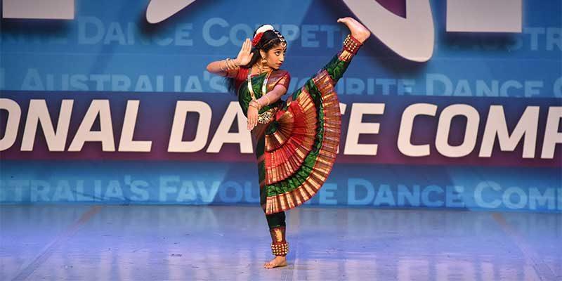 Arundhati Banerjee giving a dance recital
