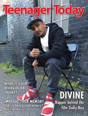 Cover of the April 2019 issue of The Teenager Today featuring rapper Divine