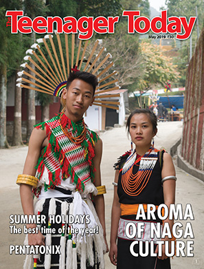 Cover of the May 2019 issue of The Teenager Today featuring Chakesang tribe members