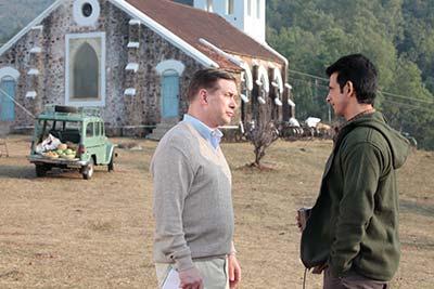 Stephen Baldwin and Sharman Joshi in a scene from the film