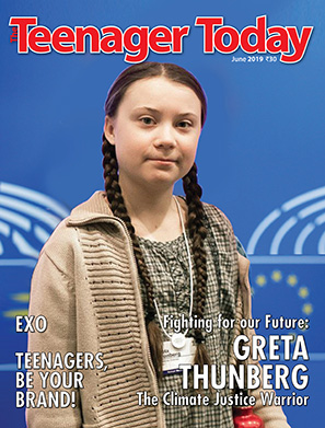 Cover of the June 2019 issue of The Teenager Today featuring Greta Thunberg
