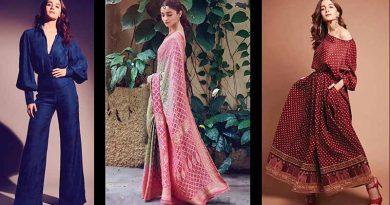 Alia Bhatt wearing different outfits