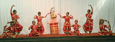 Indian dance performance by students of All Saints College, Nainital