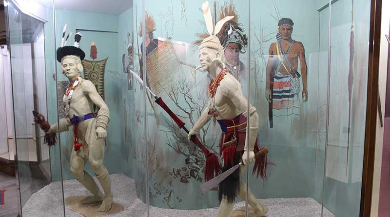 Lifelike statues with weapons at the Don Bosco Museum, Shillong