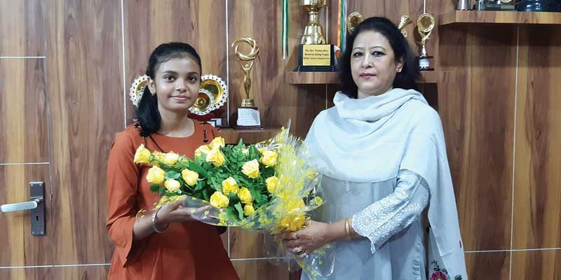 Neelam with the school manager, Ms Sheila Newar