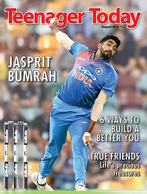 Cover of the August 2019 issue featuring Indian cricketer Jasprit Bumrah