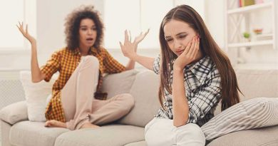 Two female friends arguing