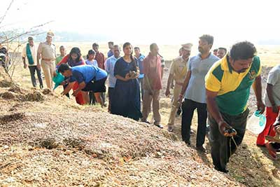 KPC cleanliness drive at  Velrampet Lake