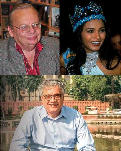 Photos of Ruskin Bond, Diana Hayden and Derek O'Brien