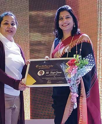Co-founder and CEO Tanuja Gomes at the Maharashtra Educator's Summit 2019