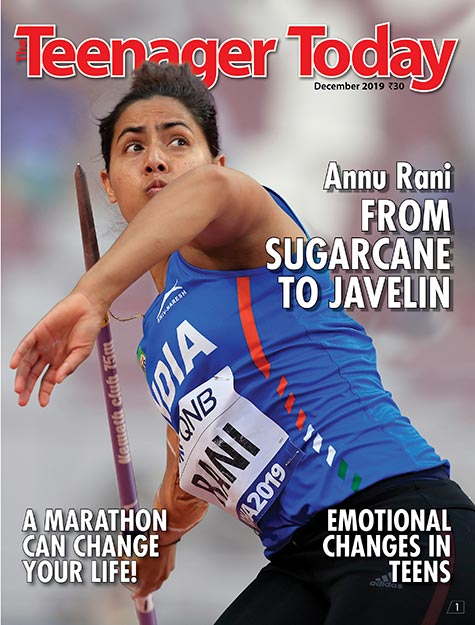 Cover of the December 2019 issue featuring athlete Annu Rani