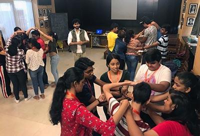 A workshop on  Self-Expression by Abhishek Banerji