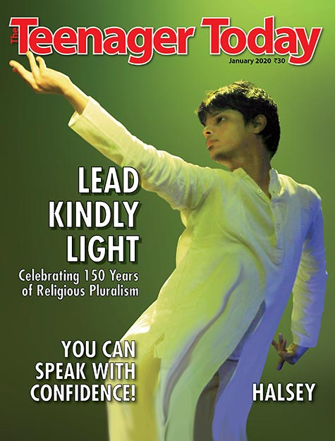 Cover of the January 2020 issue featuring Dr Omkar Bhatkar, director of Lead Kindly Light