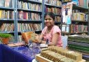 Yashoda Shenoy seated in her library