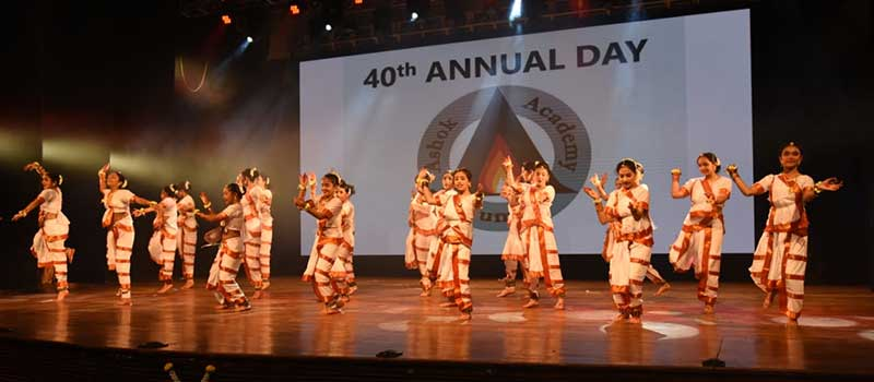 Dance performance by students of Ashok Academy, Mumbai on the 40th Annual Day of the school