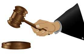 Illustration of judge's hand banging a gavel
