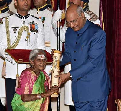 Receiving the Padma Shri Award in 2019 from President Ram Nath Kovind
