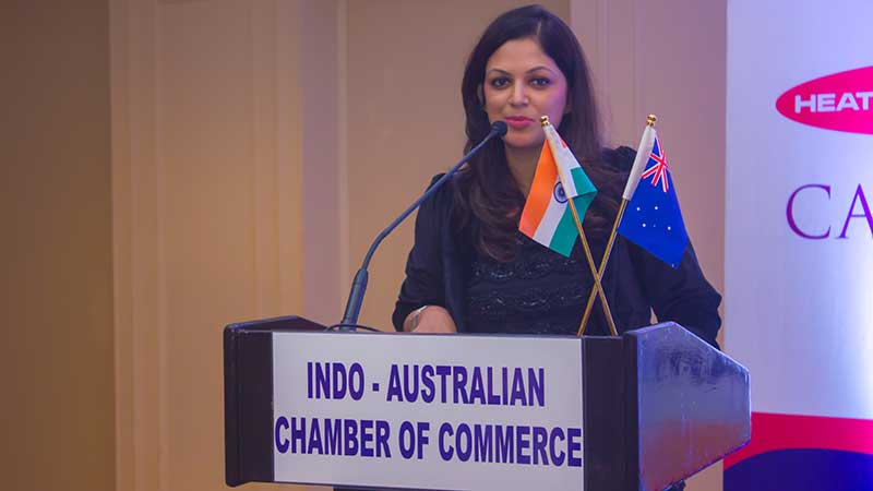 Presenting the Indo-Australian Chamber's key highlights and achievements at their 30th Anniversary event in Chennai