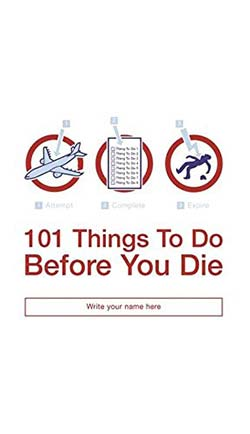 Cover of 101 Things To Do Before You Die by Richard Horne
