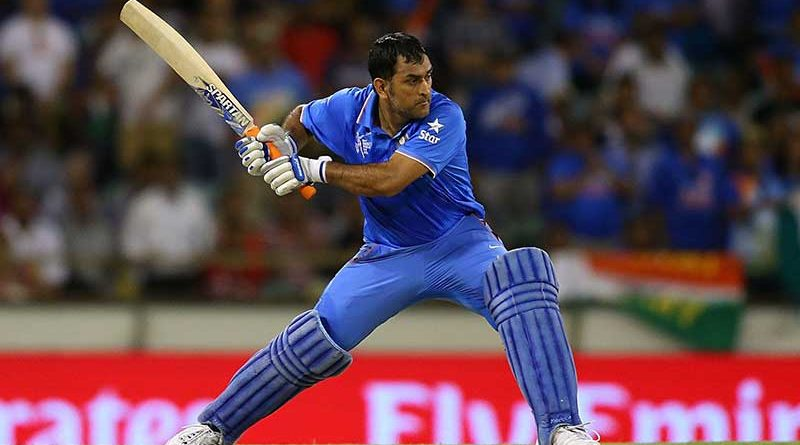 Dhoni batting
