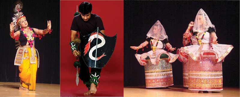 Manipuri dancer in Krishna attire, Thang Ta Dance, Jagoi Dance