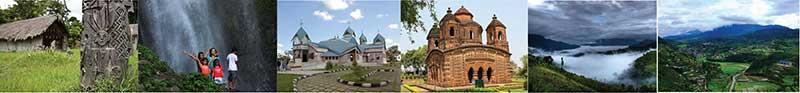 Andro, Leimaram Waterfall, St Joseph's Cathedral, Bishnupur, Tamenglom, Senapati