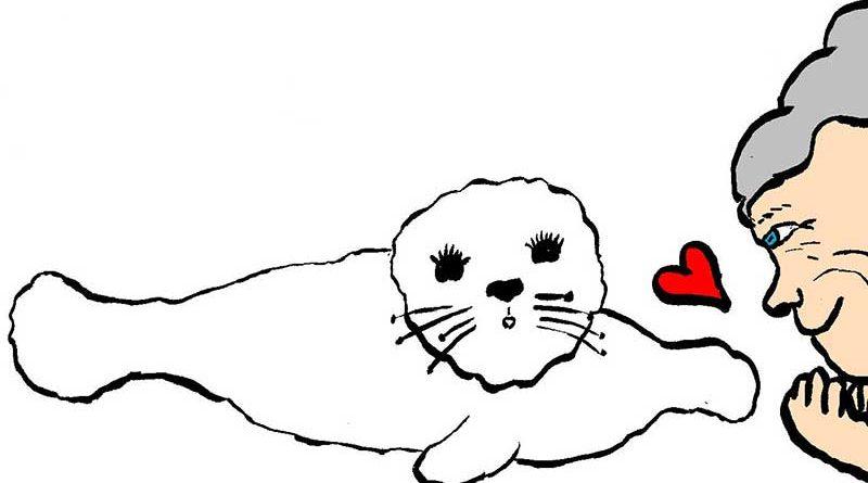Illustration of Paro, the robotic seal