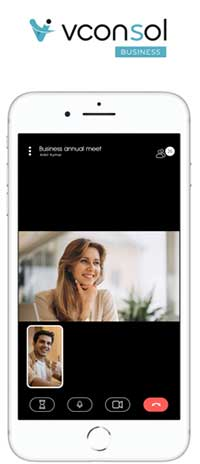 Vconsol app on smartphone