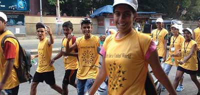 Teens at a sports4peace event in Mumbai