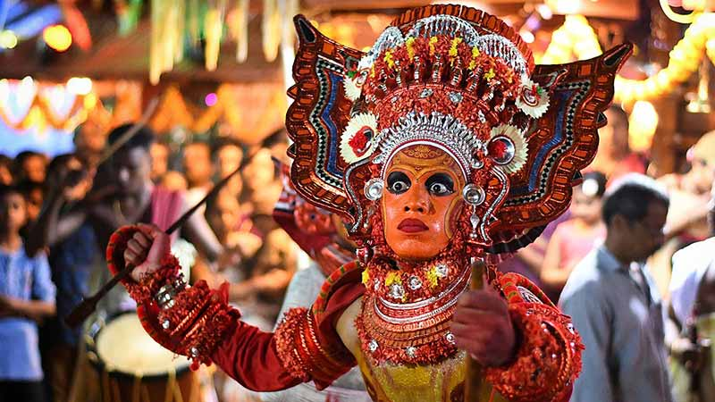 Theyyam classical dance form of Kerala