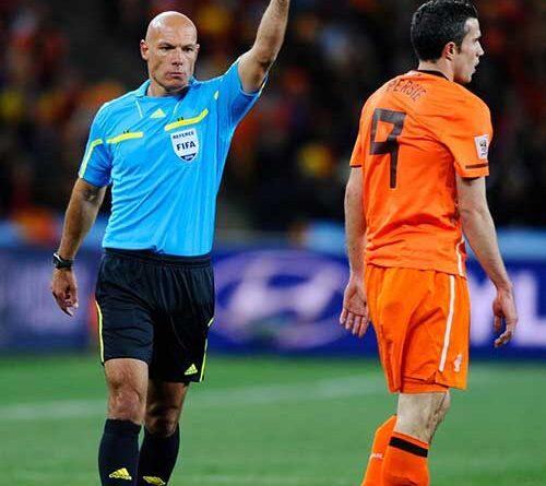 Referee Howard Webb in action