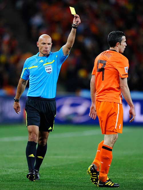 Referee Howard Webb in action