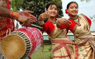 Dancers at the Bihu Festival