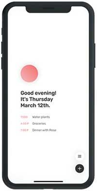 Dawn minimal calendar app screenshot