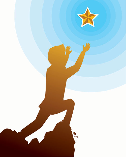 Boy reaching for a star (opportunity)
