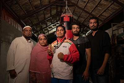 Alfiya with her family