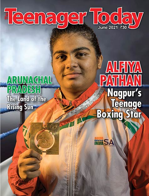Cover of the June 2021 issue of The Teenager Today featuring Alfiya Pathan