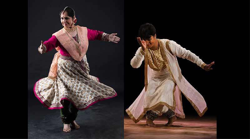 Kathak dance being performed