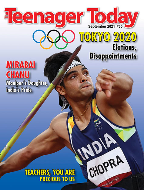 Cover of the September 2021 issue of The Teenager Today featuring Neeraj Chopra