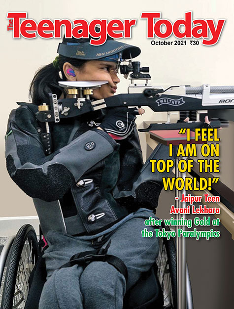 Cover of the October 2021 issue of The Teenager Today featuring Avani Lekhara