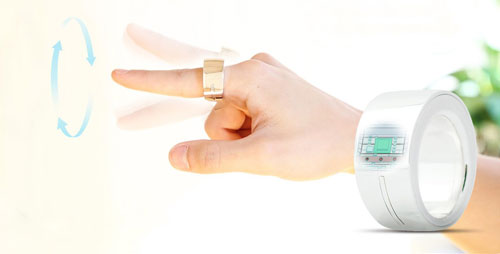 Logbar's Ring gesture control device